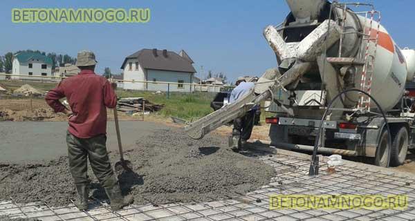 бетонирование площадки